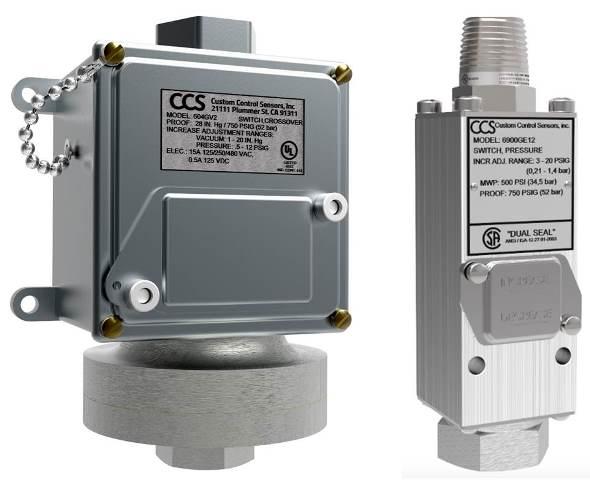 CCS Dual Snap Druk- en Temperatuurschakelaars