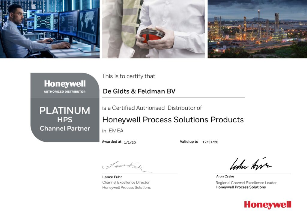 Honeywell Platinum Distributeur
